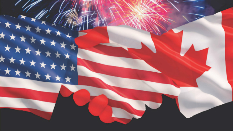 Volunteer Opportunities: USA's 241st Birthday / Canada's 150th Anniversary